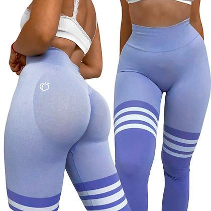 Scrunch stripe purple leggings