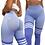 Thumbnail: Scrunch stripe purple leggings