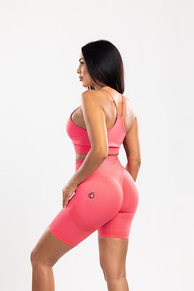 Scrunch coral push up shorts