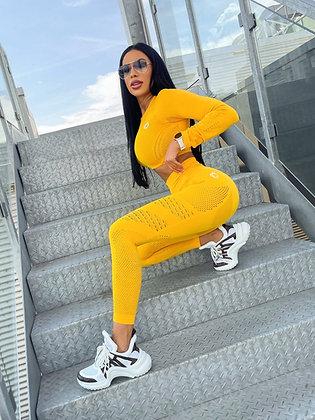 Holly yellow seamless leggings