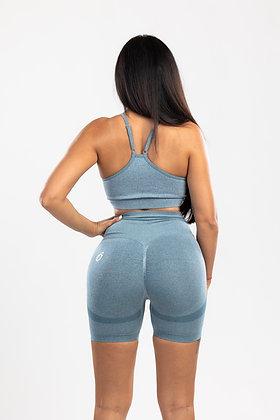 Scrunch jeans blue push up shorts