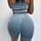 Thumbnail: Scrunch jeans blue push up shorts