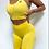 Thumbnail: Scrunch yellow push up shorts