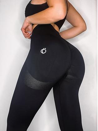 Black scrunch push up leggings