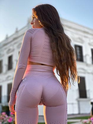 Holly baby pink seamless leggings