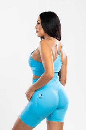 Scrunch blue push up shorts