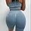 Thumbnail: Scrunch jeans blue short push up set