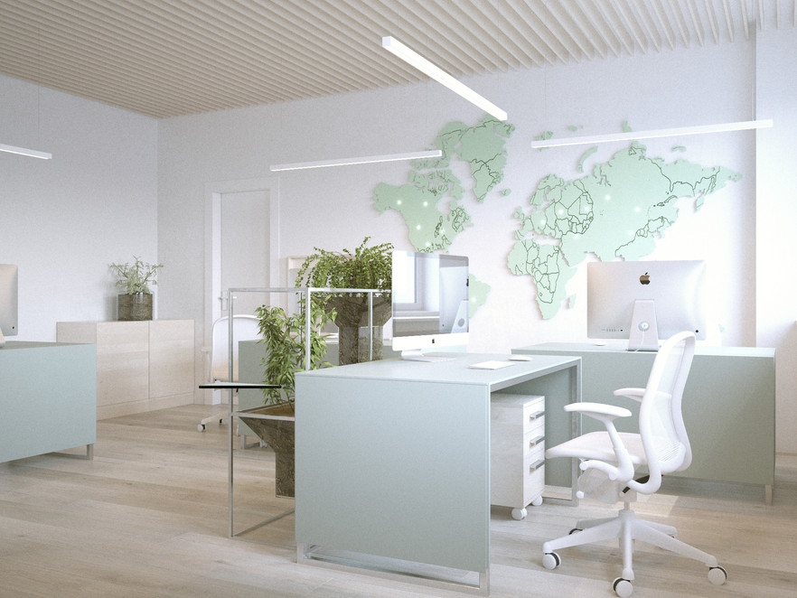 """Interior Desing of """"SFT Trading"""" office, Moscow, Russia. 2017"""