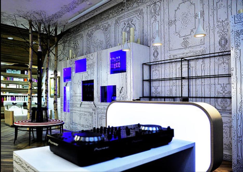 Interior design of Beauty salon Sakurami, Petrovka street, Moscow, Russia. 2013.
