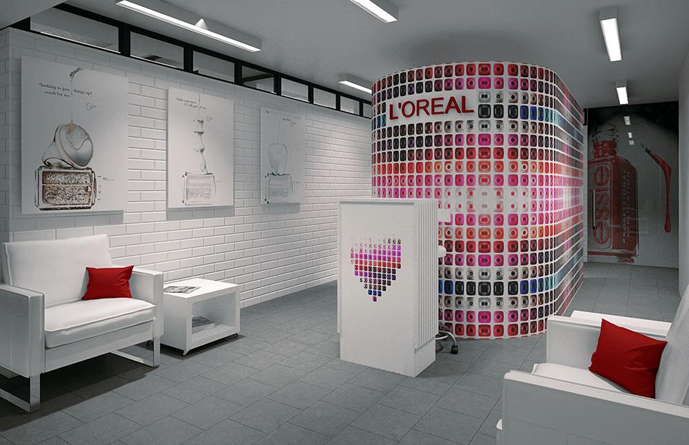 Beauty salon Sakurami Essie & L'Oreal oficial 28 2nd Tverskaya Str. Moscow. Russia. 2015