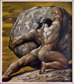 Sisyphus (c.acril. 90x80 sm)