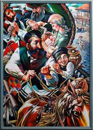 Jewish coachman. (с.acril. 70х50 sm. 2020)