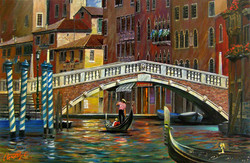 Venice. On the channel.