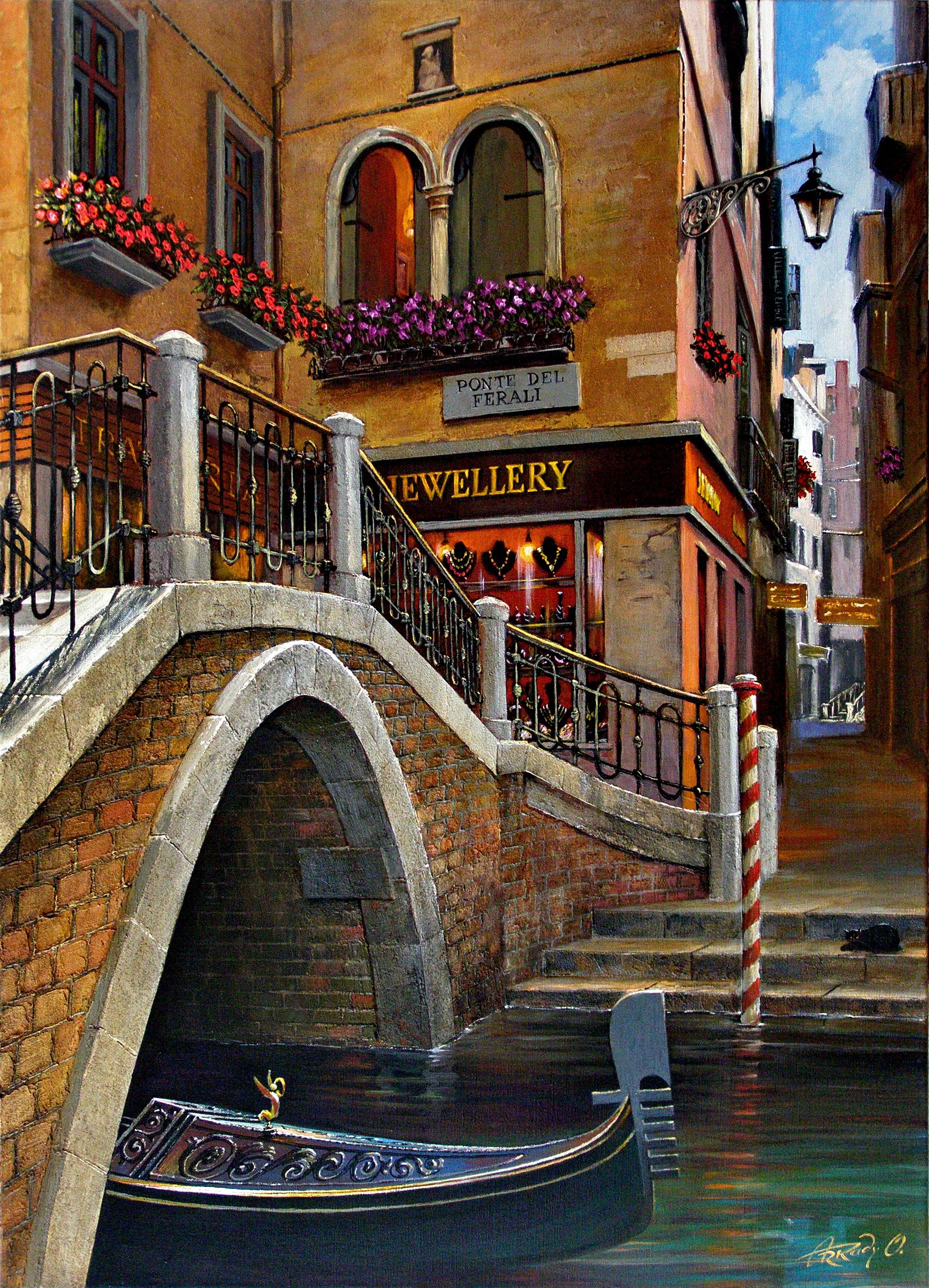"""Bridge """"PONTE DEL FERALI"""". Venice."""