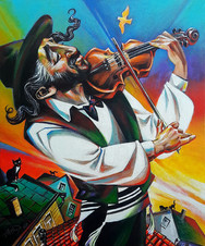 Violinist on the roof   (c.acril. 60x50sm. 2020)