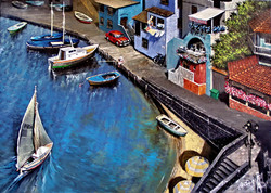 Fishing village. Italy
