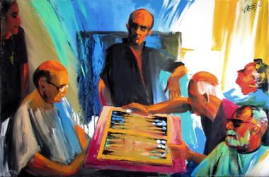 A game of backgammon. 2011.jpg