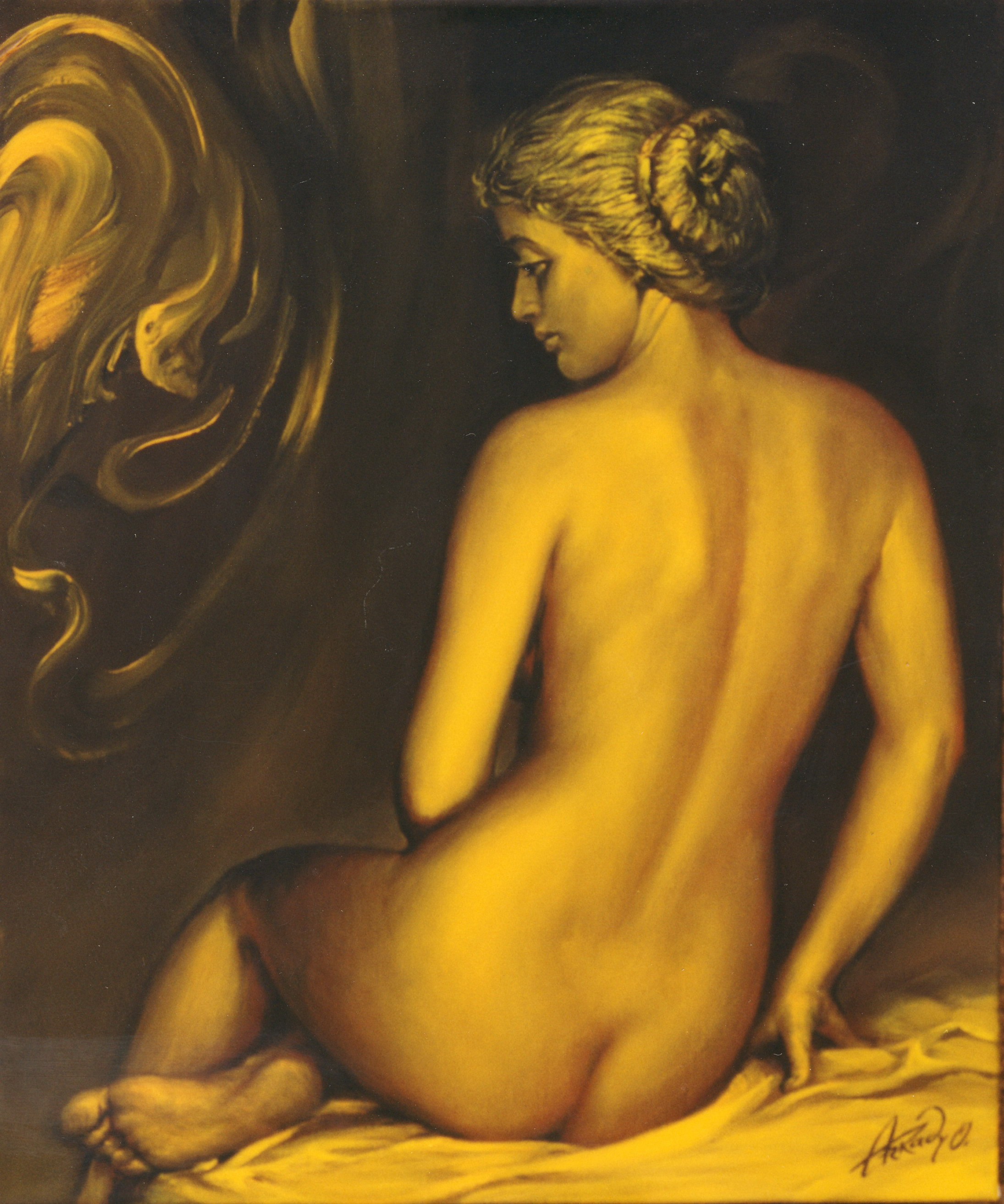 Golden nude
