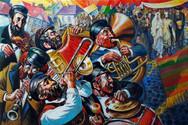 klezmer musicians (c.acril. 60х90sm. 2020)