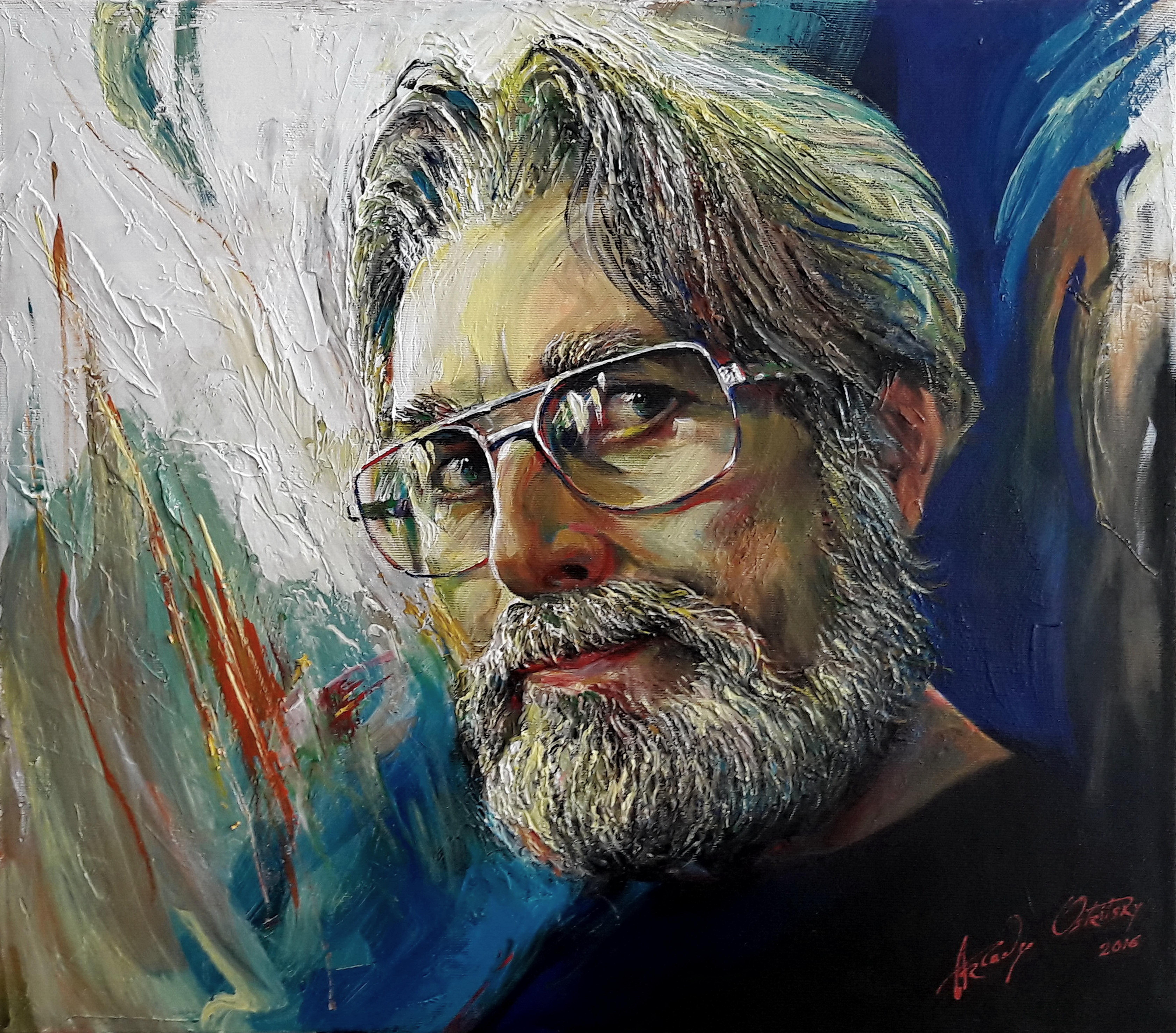 Self-portret (c.acril.50x57sm. 2016)