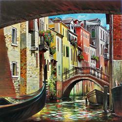 Venice. Under bridges.