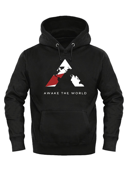 Black Awake The World Hoodie