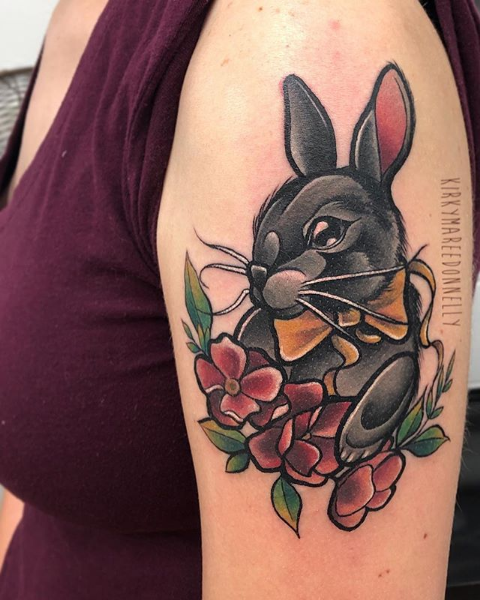 Rabbit tattoo by Kirky