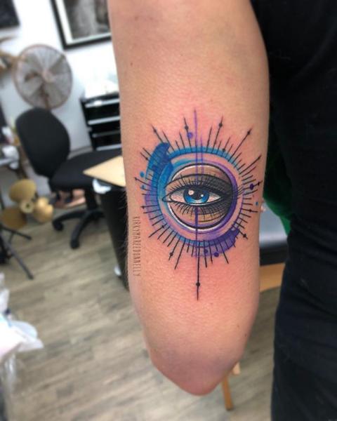 Eye tattoo by Kirky