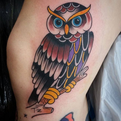 Owl tattoo by Lou