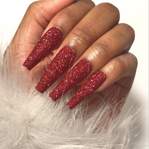 Ready to ship: Red Glitter