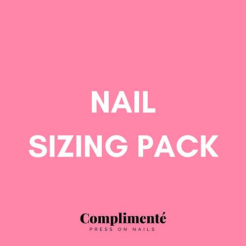 Nail sizing pack
