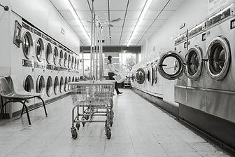 Aisle of Laundromat Machines