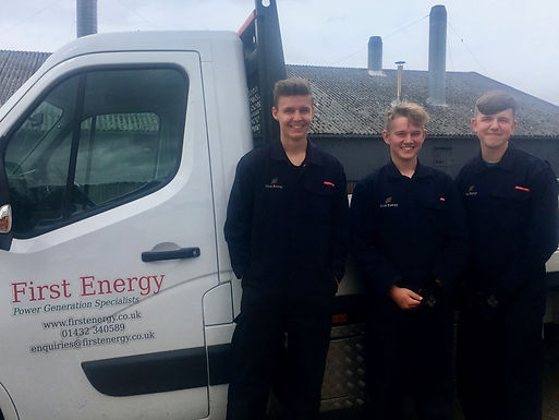 Apprentices Ben, Jack and Tye join First Energy Limited