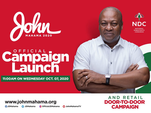 FR. PREZ MAHAMA SET TO LAUNCH NDC CAMPAIGN TODAY