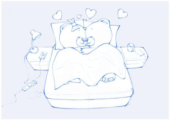 Teddy Bear Love story illustrations (in progress)