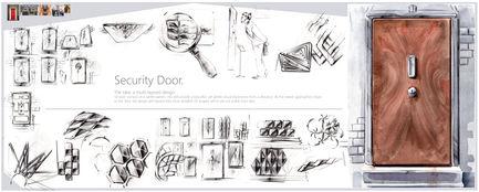 Security Door for London Market