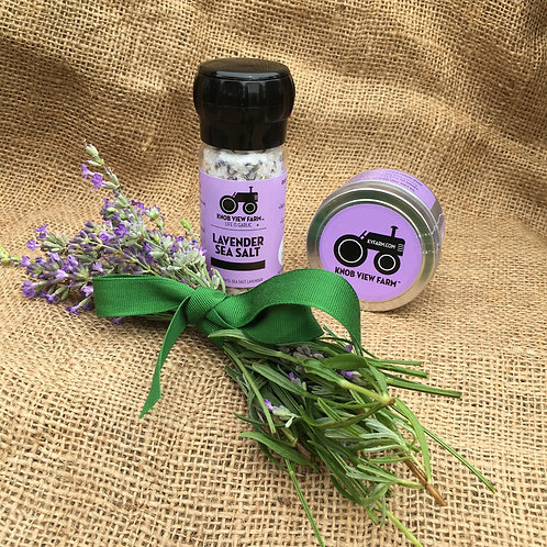 Lavender Sea Salt - 4oz Grinder