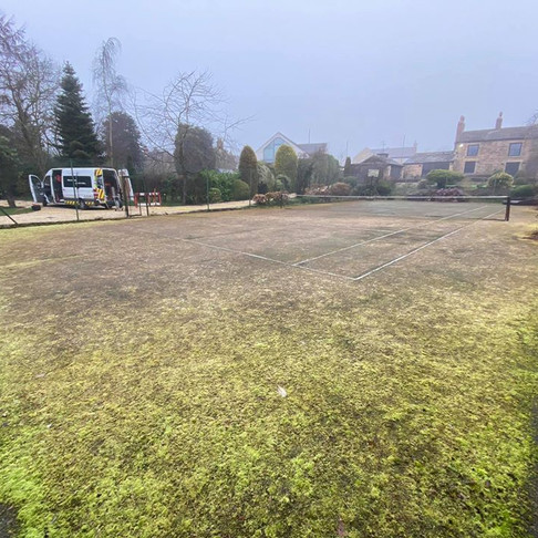 Tennis Court Cleaning in Leeds