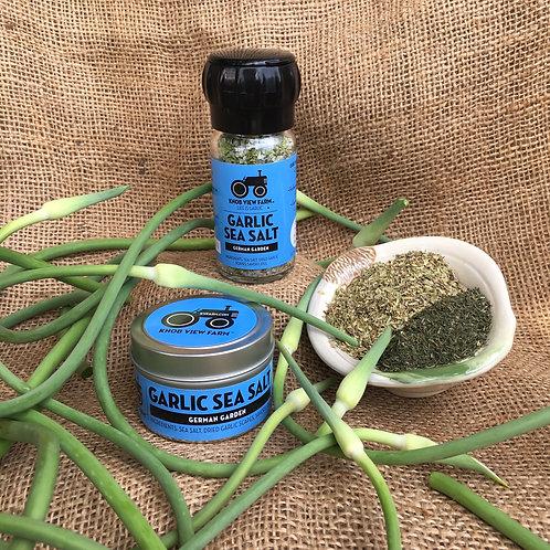 German Garden Garlic Sea Salt- 4oz Grinder