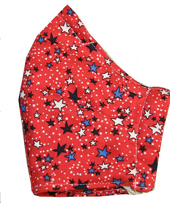 Red Stars 4 Layer Face Mask