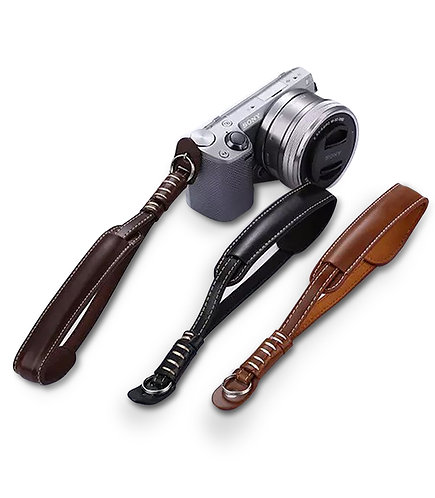 b.Still Adjustable Leather Camera Wrist Strap