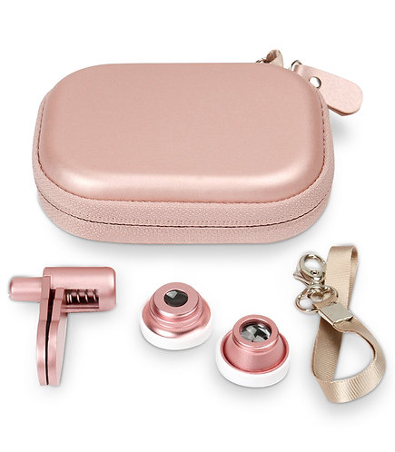 3 in 1 Universal Cell Phone Lens (Rose Gold)