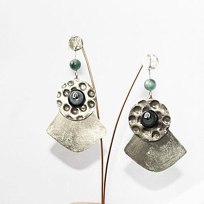 Aro de Plata ,  chapa texturada y piedras