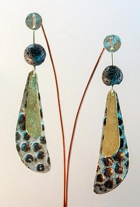 Aro de Plata, chapas texturada y satinada, aplicación de Piedras Volcánicas