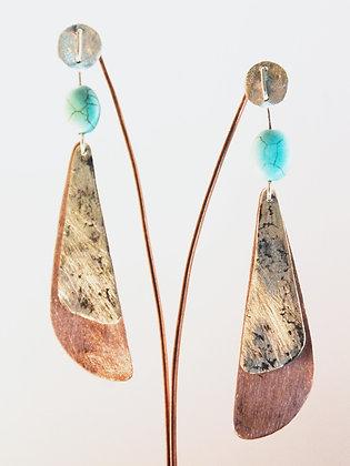 Aro de Plata, chapas texturada y satinada, aplicación de piedras