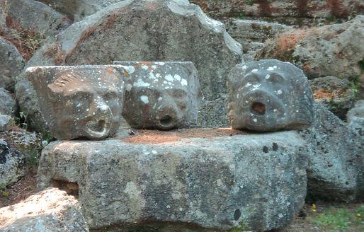 Ancient Olympia Zeus Temple rain spouts