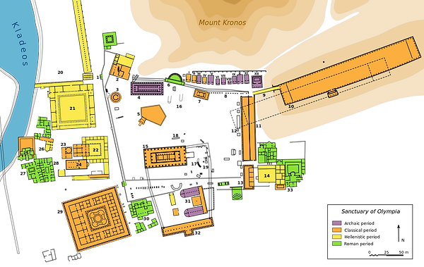 Ancient Olympia site plan