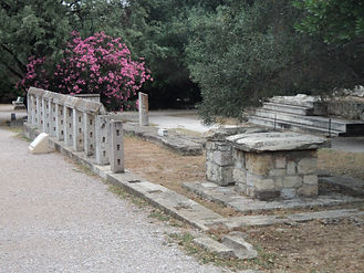 Ancient Athens Monument of the Eponymous Heroes