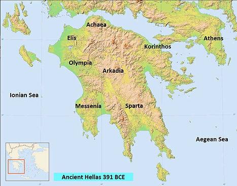Ancient Hellas Map 3901 BCE
