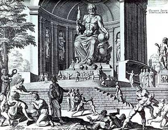 Statue Olympian Zeus Olympia